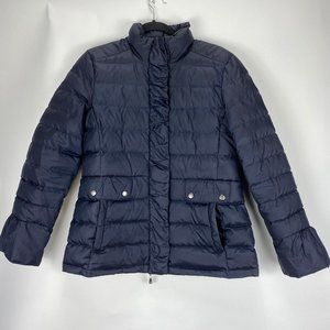 """Brooks Brothers """"346"""" Down Jacket Size 8 Navy Blue"""